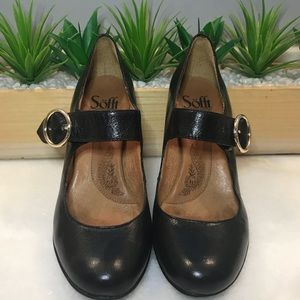 Sofft Black Leather Mary Janes 8